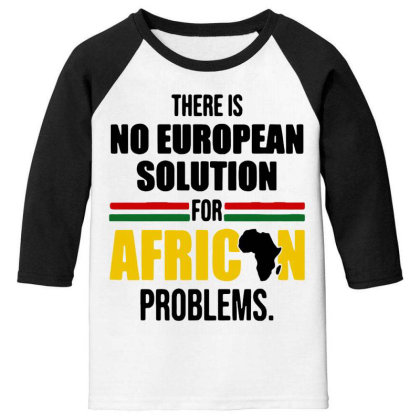 No Solution For African Youth 3/4 Sleeve Designed By Pinkanzee