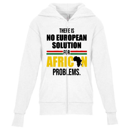 No Solution For African Youth Zipper Hoodie Designed By Pinkanzee