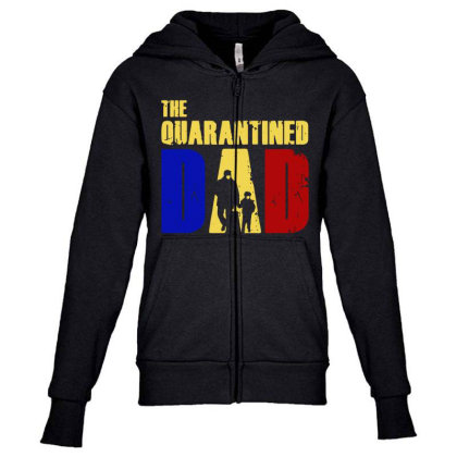 The Quarantined Quotes Youth Zipper Hoodie Designed By Pinkanzee