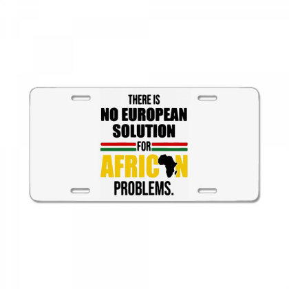 No Solution For African License Plate Designed By Pinkanzee