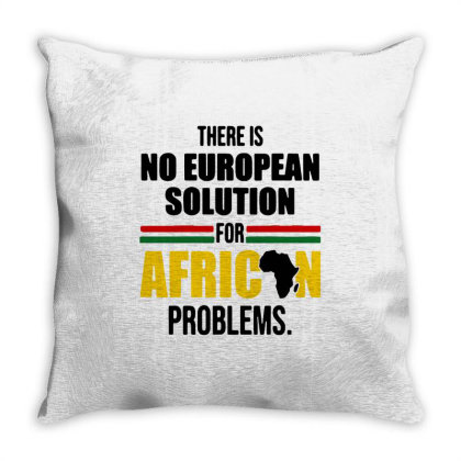 No Solution For African Throw Pillow Designed By Pinkanzee