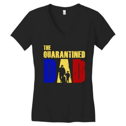The Quarantined Quotes Women's V-neck T-shirt Designed By Pinkanzee