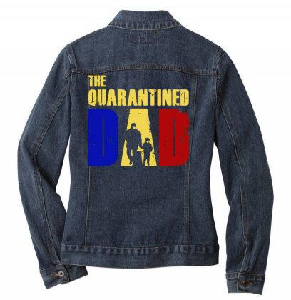 The Quarantined Quotes Ladies Denim Jacket Designed By Pinkanzee