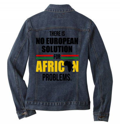 No Solution For African Ladies Denim Jacket Designed By Pinkanzee