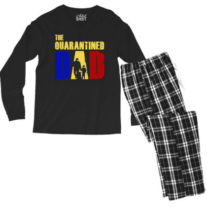 The Quarantined Quotes Men's Long Sleeve Pajama Set Designed By Pinkanzee