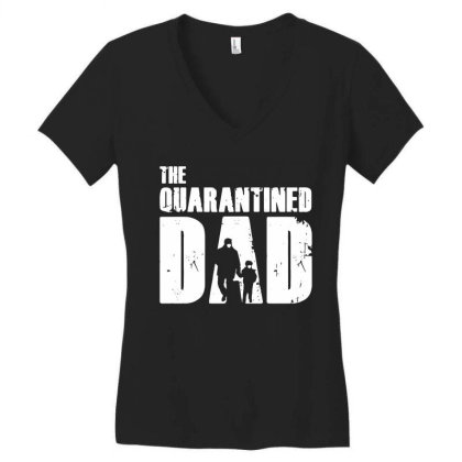 The Quarantined Vintage Women's V-neck T-shirt Designed By Pinkanzee