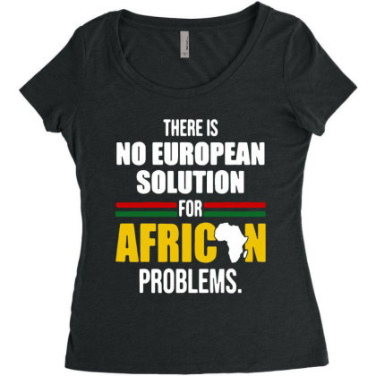 No  Solution For African Women's Triblend Scoop T-shirt Designed By Pinkanzee