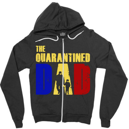 The Quarantined Quotes Zipper Hoodie Designed By Pinkanzee