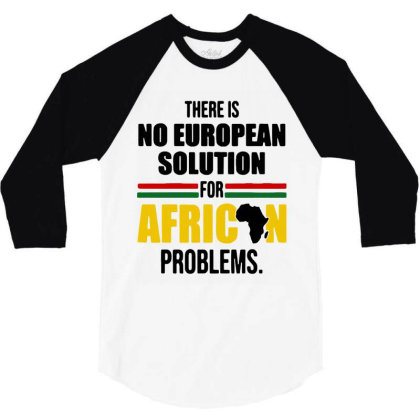 No Solution For African 3/4 Sleeve Shirt Designed By Pinkanzee
