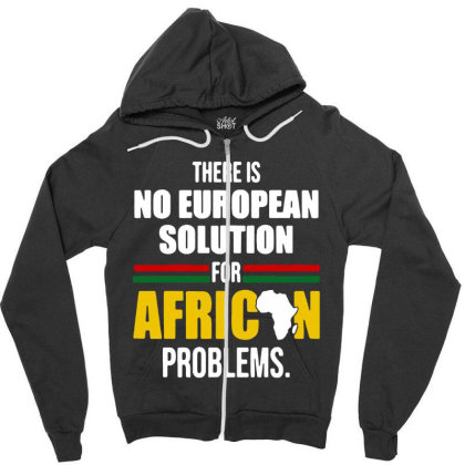 No  Solution For African Zipper Hoodie Designed By Pinkanzee