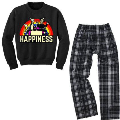Happiness Anime Youth Sweatshirt Pajama Set Designed By Pinkanzee