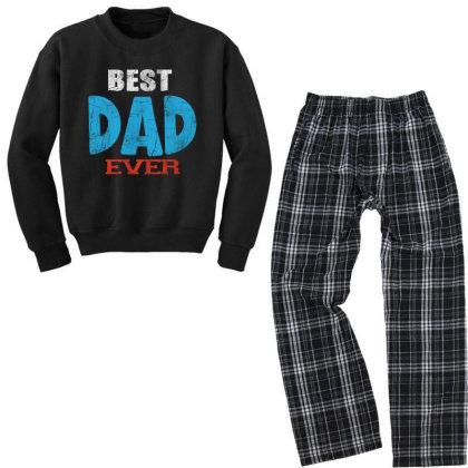 Best Dad Ever Youth Sweatshirt Pajama Set Designed By Pinkanzee