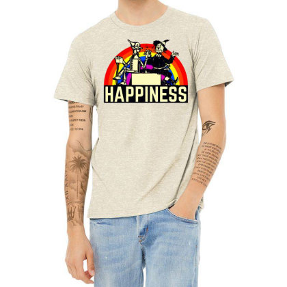 Happiness Anime Heather T-shirt Designed By Pinkanzee