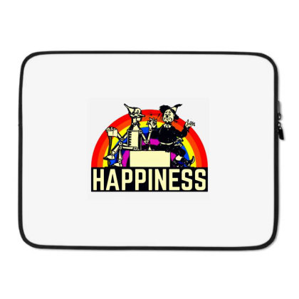 Happiness Anime Laptop Sleeve Designed By Pinkanzee