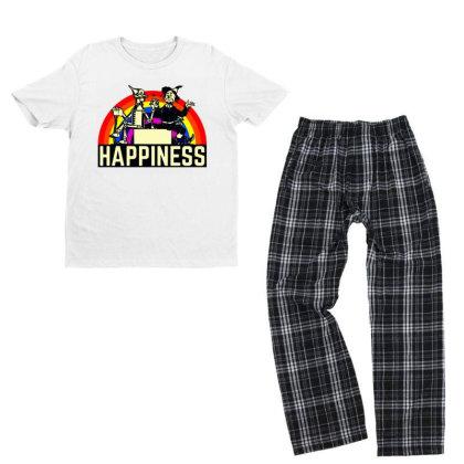 Happiness Anime Youth T-shirt Pajama Set Designed By Pinkanzee