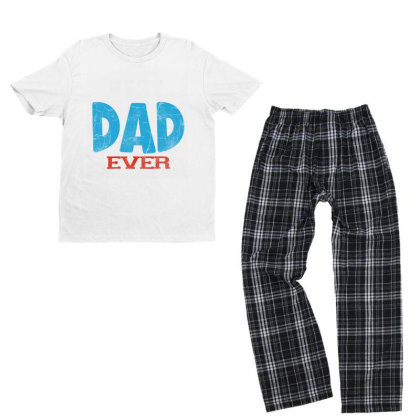 Best Dad Ever Youth T-shirt Pajama Set Designed By Pinkanzee