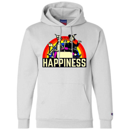 Happiness Anime Champion Hoodie Designed By Pinkanzee