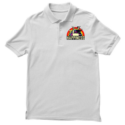 Happiness Anime Men's Polo Shirt Designed By Pinkanzee