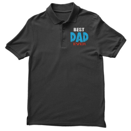 Best Dad Ever Men's Polo Shirt Designed By Pinkanzee