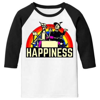 Happiness Anime Youth 3/4 Sleeve Designed By Pinkanzee