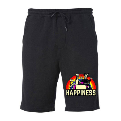 Happiness Anime Fleece Short Designed By Pinkanzee