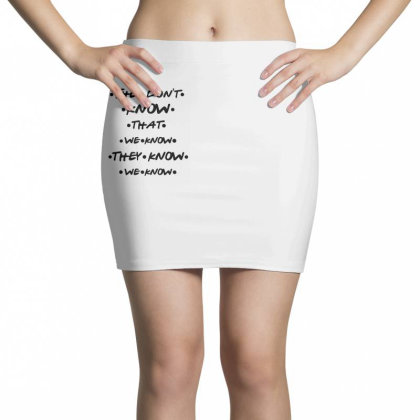 They Know Quote Mini Skirts Designed By Pinkanzee