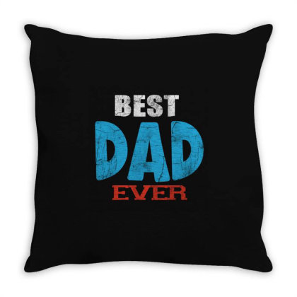 Best Dad Ever Throw Pillow Designed By Pinkanzee