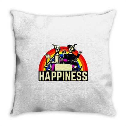 Happiness Anime Throw Pillow Designed By Pinkanzee