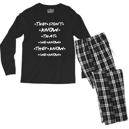 They Know Quotes Men's Long Sleeve Pajama Set Designed By Pinkanzee