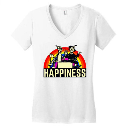 Happiness Anime Women's V-neck T-shirt Designed By Pinkanzee