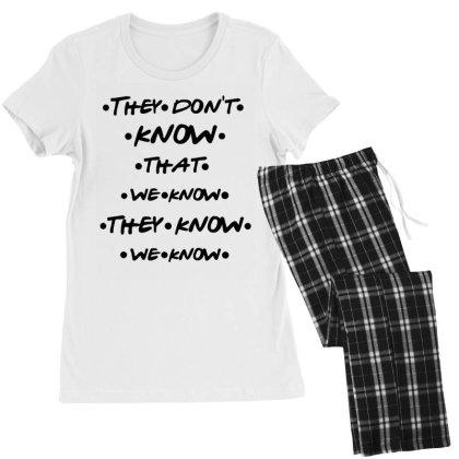 They Know Quote Women's Pajamas Set Designed By Pinkanzee