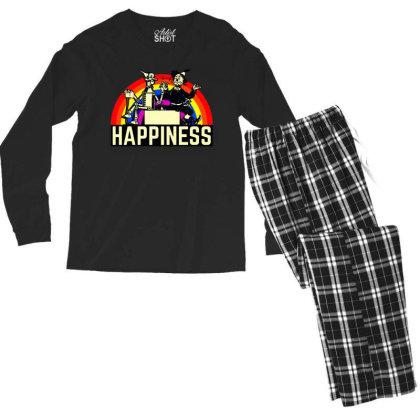Happiness Anime Men's Long Sleeve Pajama Set Designed By Pinkanzee