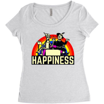 Happiness Anime Women's Triblend Scoop T-shirt Designed By Pinkanzee