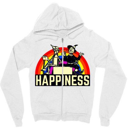 Happiness Anime Zipper Hoodie Designed By Pinkanzee