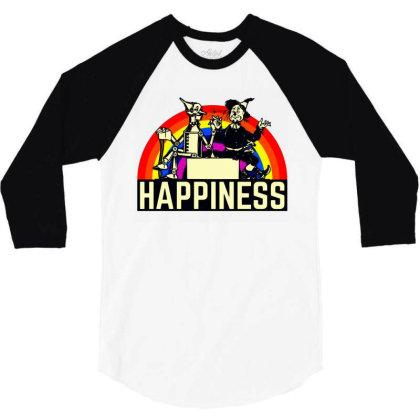 Happiness Anime 3/4 Sleeve Shirt Designed By Pinkanzee