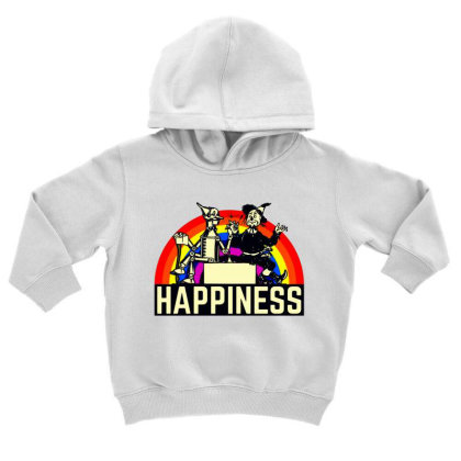 Happiness Anime Toddler Hoodie Designed By Pinkanzee