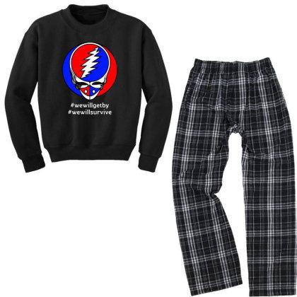 We Will Survive Youth Sweatshirt Pajama Set Designed By Pinkanzee