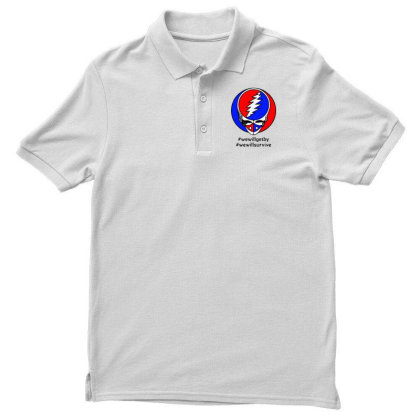 We Will Survive Men's Polo Shirt Designed By Pinkanzee