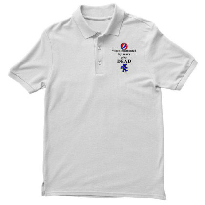 Bears Play Dead Men's Polo Shirt Designed By Pinkanzee