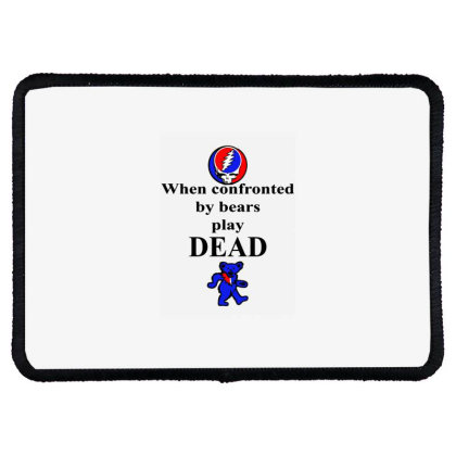 Bears Play Dead Rectangle Patch Designed By Pinkanzee