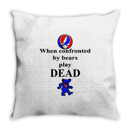 Bears Play Dead Throw Pillow Designed By Pinkanzee