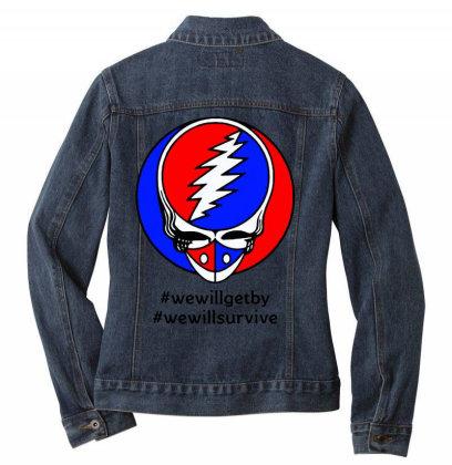 We Will Survive Ladies Denim Jacket Designed By Pinkanzee