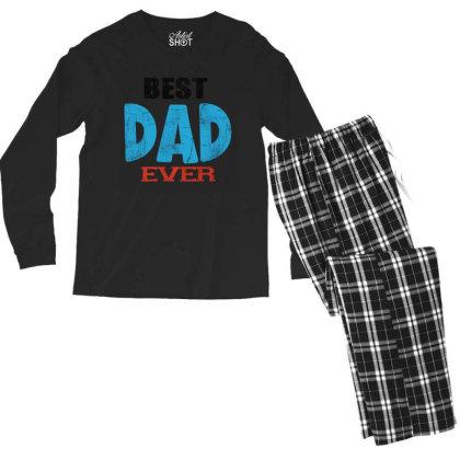 Best Dad Ever Men's Long Sleeve Pajama Set Designed By Pinkanzee