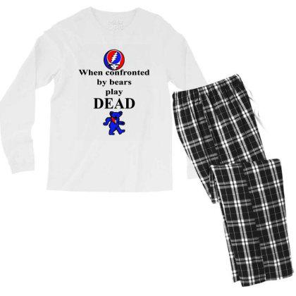 Bears Play Dead Men's Long Sleeve Pajama Set Designed By Pinkanzee