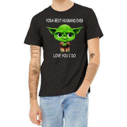 Yoda Best Husband Heather T-shirt Designed By Pinkanzee