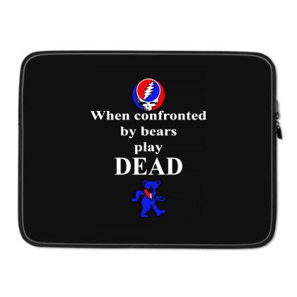 Bears Play Dead Laptop Sleeve Designed By Pinkanzee