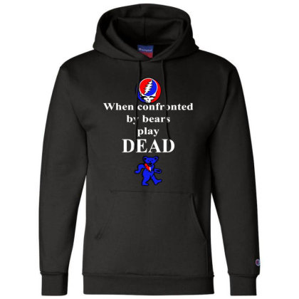 Bears Play Dead Champion Hoodie Designed By Pinkanzee