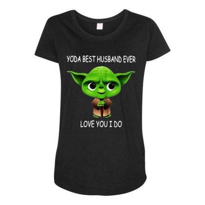 Yoda Best Husband Maternity Scoop Neck T-shirt Designed By Pinkanzee