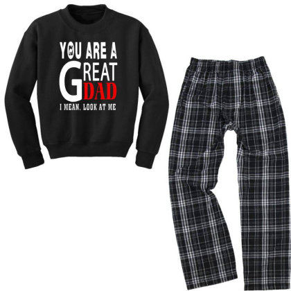You Are A Great Dad Youth Sweatshirt Pajama Set Designed By Pinkanzee