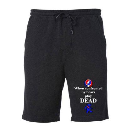 Bears Play Dead Fleece Short Designed By Pinkanzee